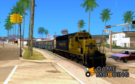 Локомотив SD 40 Santa Fe Blue/Yellow для GTA San Andreas