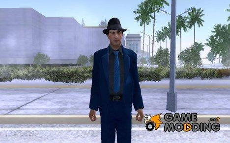 Вито Скаллета из Mafia 2 в синем костюме for GTA San Andreas