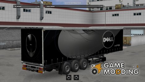 Dell XPS Trailer by LazyMods для Euro Truck Simulator 2