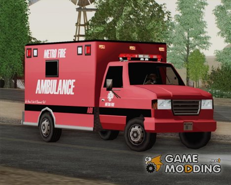 Ambulance - Metro Fire Ambulance 69 для GTA San Andreas