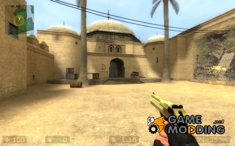 Gold chrome slide default deagle for Counter-Strike Source