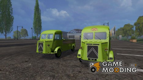 Citroen H flatbed and Livestock for Farming Simulator 2015