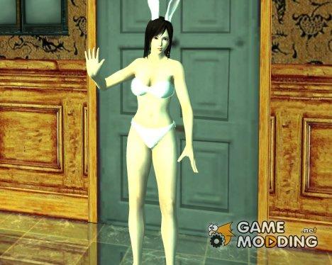 Kokoro в светлом нижнем белье и заячьих ушках for GTA San Andreas