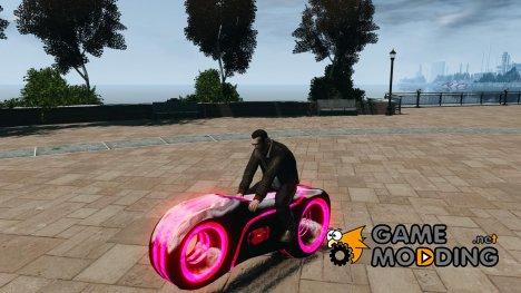 Мотоцикл из Трон (красный неон) for GTA 4
