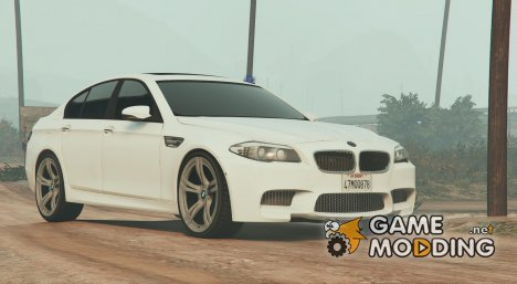 BMW M5 with siren and blue LEDs для GTA 5