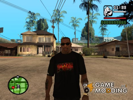 Футболка с логотипом Метро 2033 для GTA San Andreas