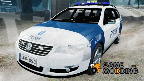 Finnish Police Volkswagen Passat (Poliisi) for GTA 4