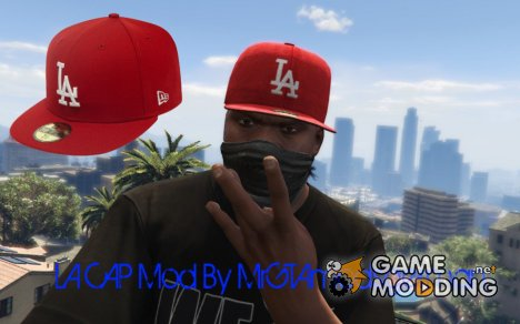 Red LA Cap for GTA 5