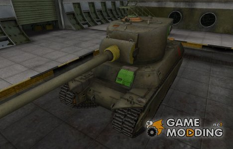 Зона пробития M6A2E1 for World of Tanks