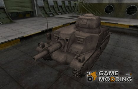 Перекрашенный французкий скин для Somua SAu 40 for World of Tanks