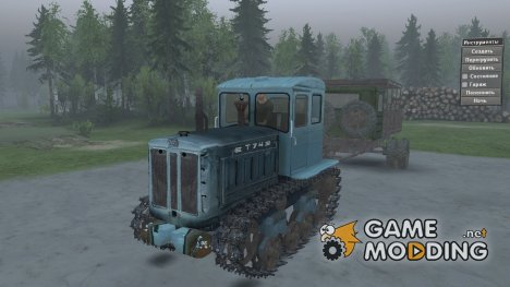 Т-74 v2.2 for Spintires 2014