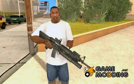 M16A4/Red dot sight/M203 for GTA San Andreas