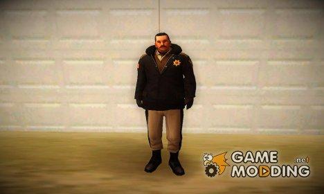 Зимний вариант полицейского for GTA San Andreas