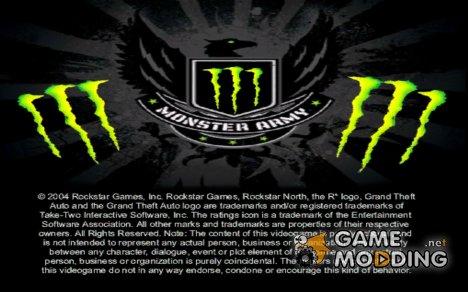 Загрузочные экраны Monster Energy for GTA San Andreas