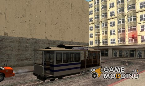 The tram is white with blue stripes для GTA San Andreas