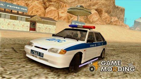 Ваз 2114 Полиция ДПС for GTA San Andreas