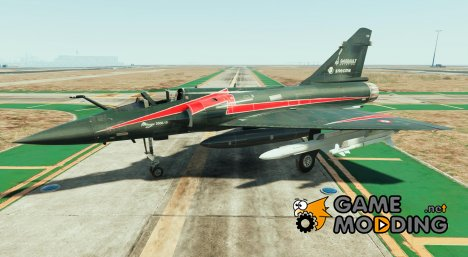 Dassault Mirage 2000-5 Black for GTA 5