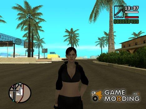 Джилл в короткой чёрной одежде для GTA San Andreas