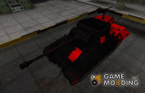 Черно-красные зоны пробития M36 Jackson для World of Tanks