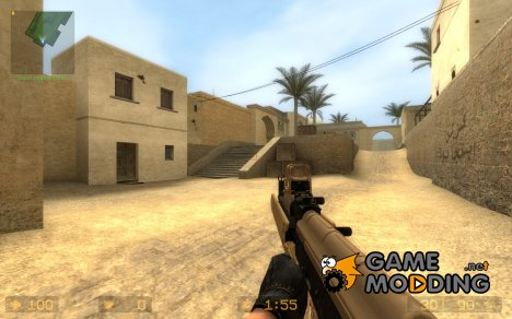 SHiBaN And Ferrari Black's Tactical Desert AK для Counter-Strike Source