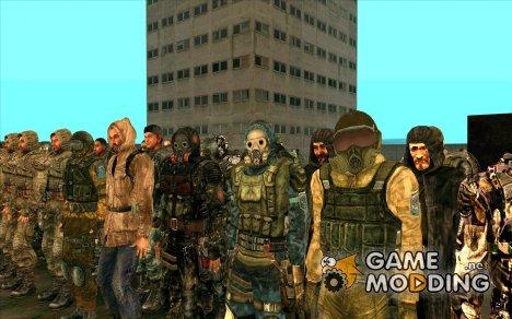 Огромнейший сборник скинов из S.T.A.L.K.E.R для GTA San Andreas