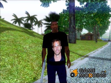 "Футболка ""Paul Walker"" for GTA San Andreas"