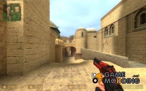 Black And Red Desert Eagle for Counter-Strike Source