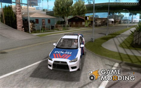 Mitsubishi Lancer X Police Indonesia for GTA San Andreas