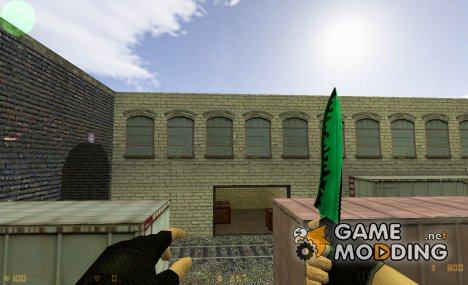 green-black Knife. for Counter-Strike 1.6