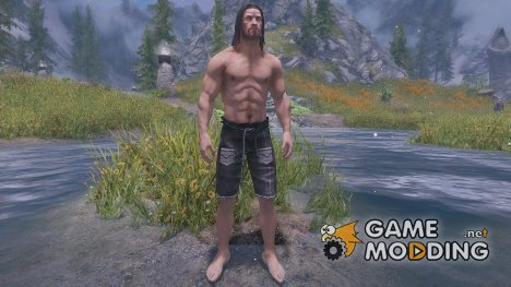 Black PC Light Armour male for TES V Skyrim