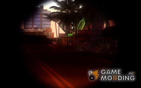 Новый голографический снайперский прицел for GTA San Andreas