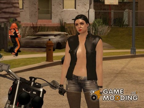 Biker Girl from GTA Online для GTA San Andreas