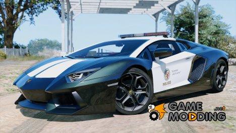 Police Lamborghini Aventador для GTA 5