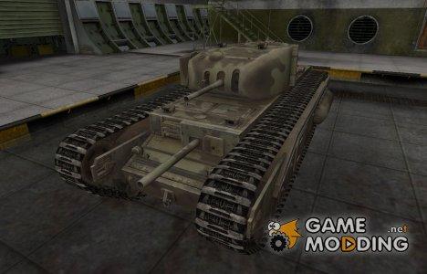 Пустынный скин для Churchill I for World of Tanks