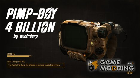 Pimp-Boy 4 Billion (Golden Pip-Boy) для Fallout 4