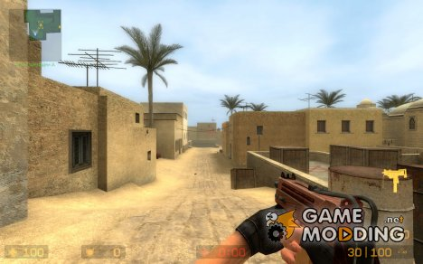 Wood Mac10 With Furry Grip для Counter-Strike Source