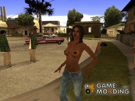 No top dark Nude for GTA San Andreas