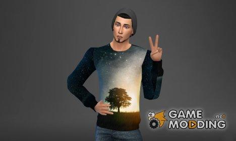 Сет мужских свитшотов 2 для Sims 4