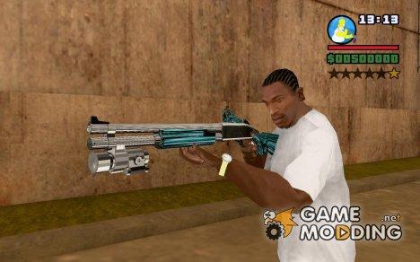 Blue Chromegun for GTA San Andreas