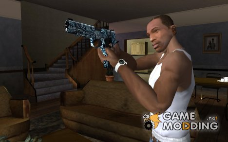 Blue Graffiti Desert Eagle для GTA San Andreas