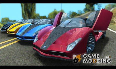 Grotti Cheetah v3 SAmobile (GTA V) для GTA San Andreas