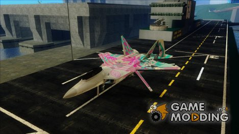 F-22 - Miku Hatsune Itasha для GTA San Andreas