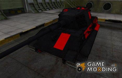 Черно-красные зоны пробития E-75 для World of Tanks