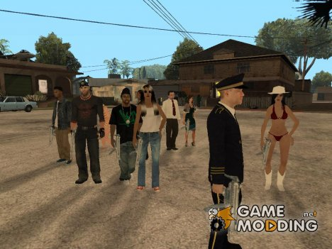 Large skins pack HD для GTA San Andreas