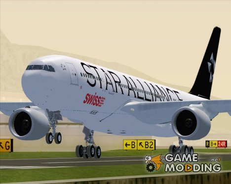 Airbus A330-200 Swiss International Air Lines (Star Alliance Livery) для GTA San Andreas
