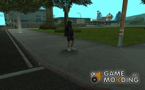 Бомж в кроссовках for GTA San Andreas
