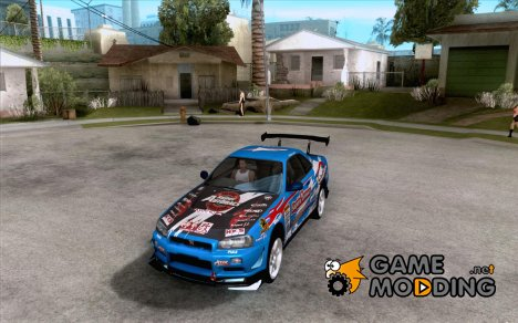 Nissan Skyline GT-R R34 Super Autobacs for GTA San Andreas