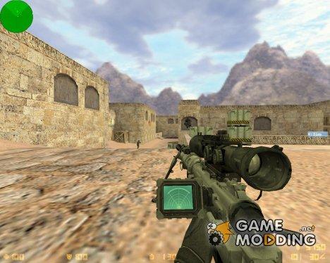 AWP с датчиком сердцебиения для Counter-Strike 1.6