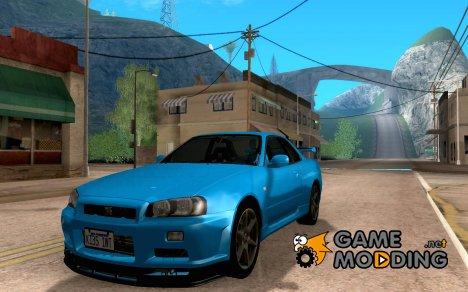 Nissan skyline GTR 34 V-Speect Nur для GTA San Andreas