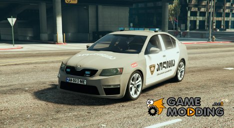 Skoda Octavia GEORGIA POLICE for GTA 5